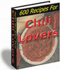 Thumbnail 600 Recipes For Chili Lovers + resell rights w/mrr