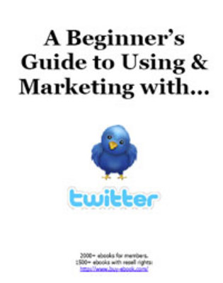Product picture A Beginners Guide to Using & Marketing with Twitter w/mrr